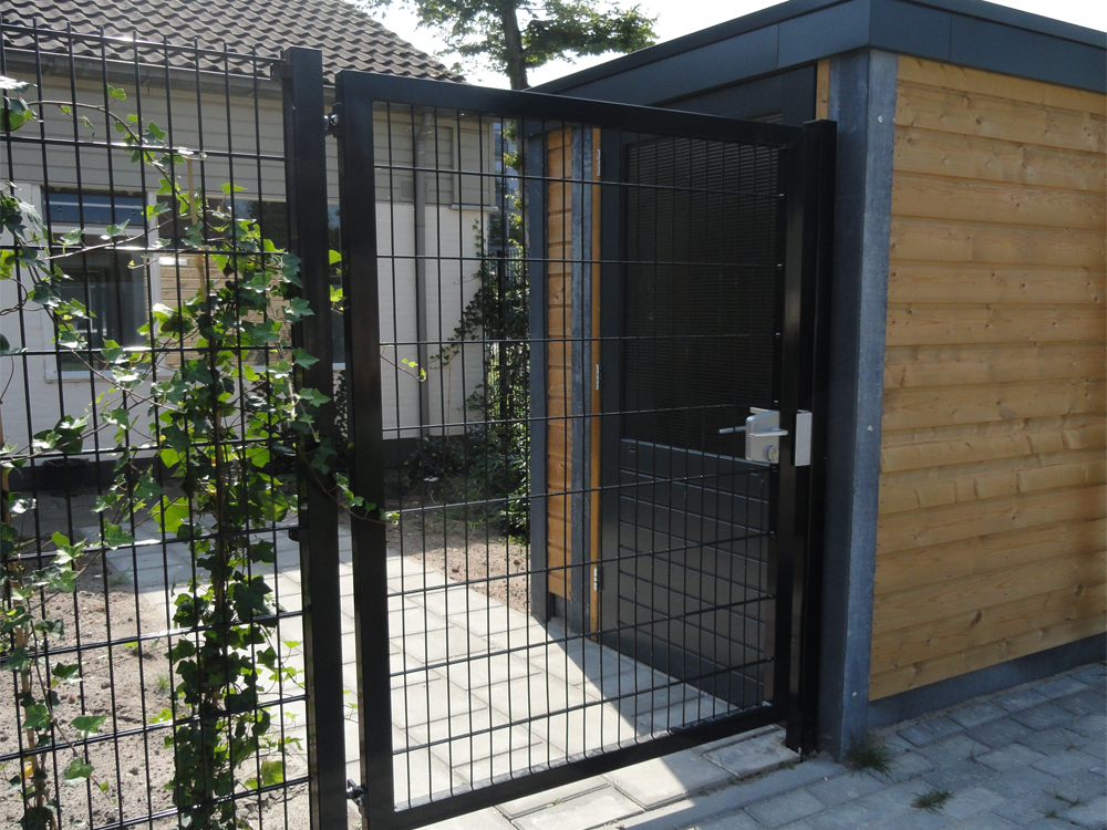 Stock and custom made gates to fit wire mesh fencing panel systems