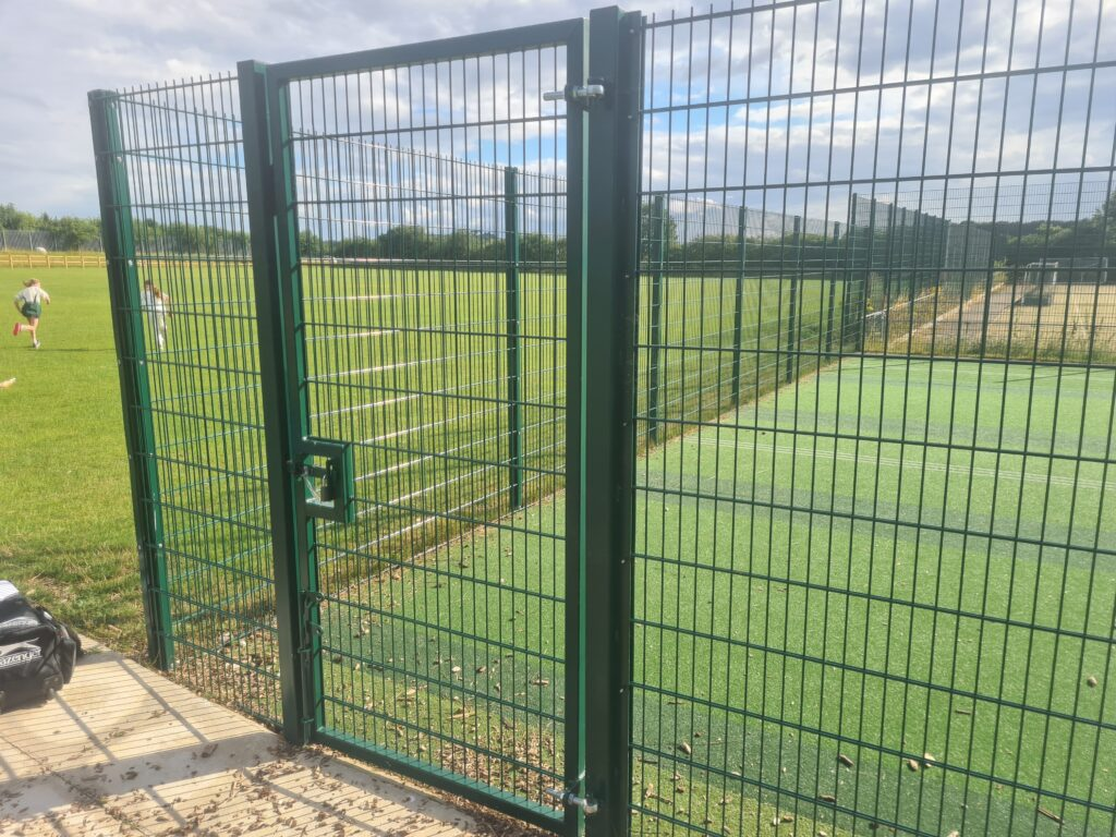 Twin wire access gates for 868 security fence panel system